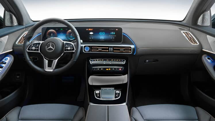Mercedes EQC Dashboard